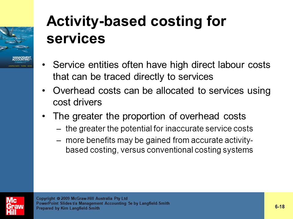 Activity-based costing for services