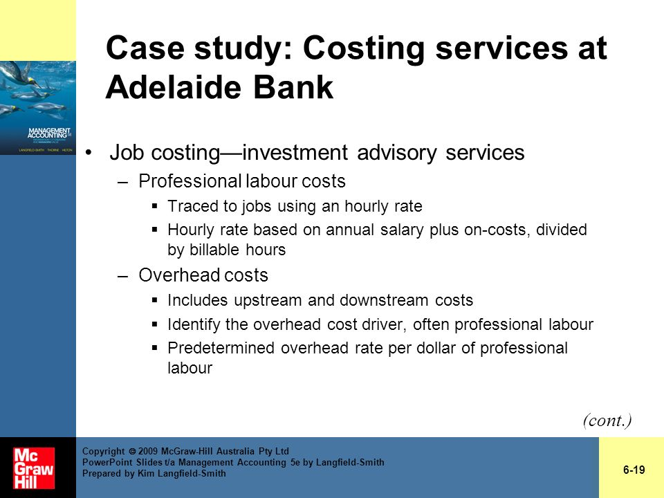 Case study: Costing services at Adelaide Bank
