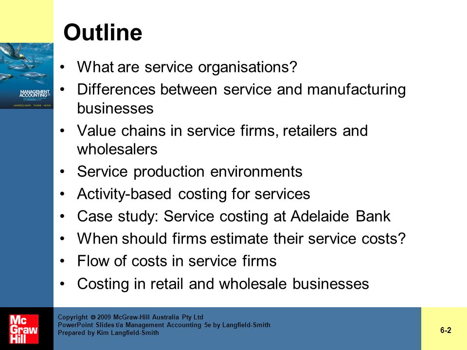 Outline What are service organisations