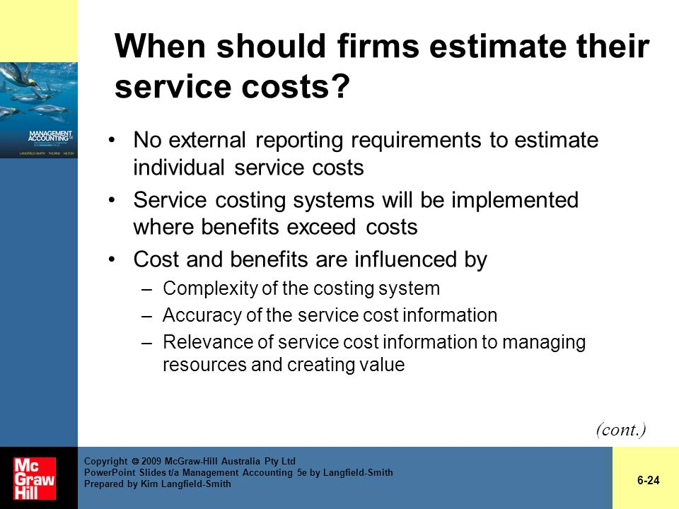 When should firms estimate their service costs