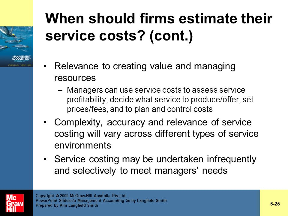 When should firms estimate their service costs (cont.)