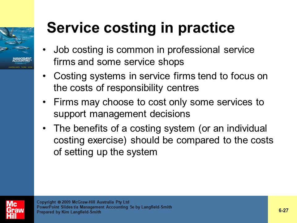 Service costing in practice