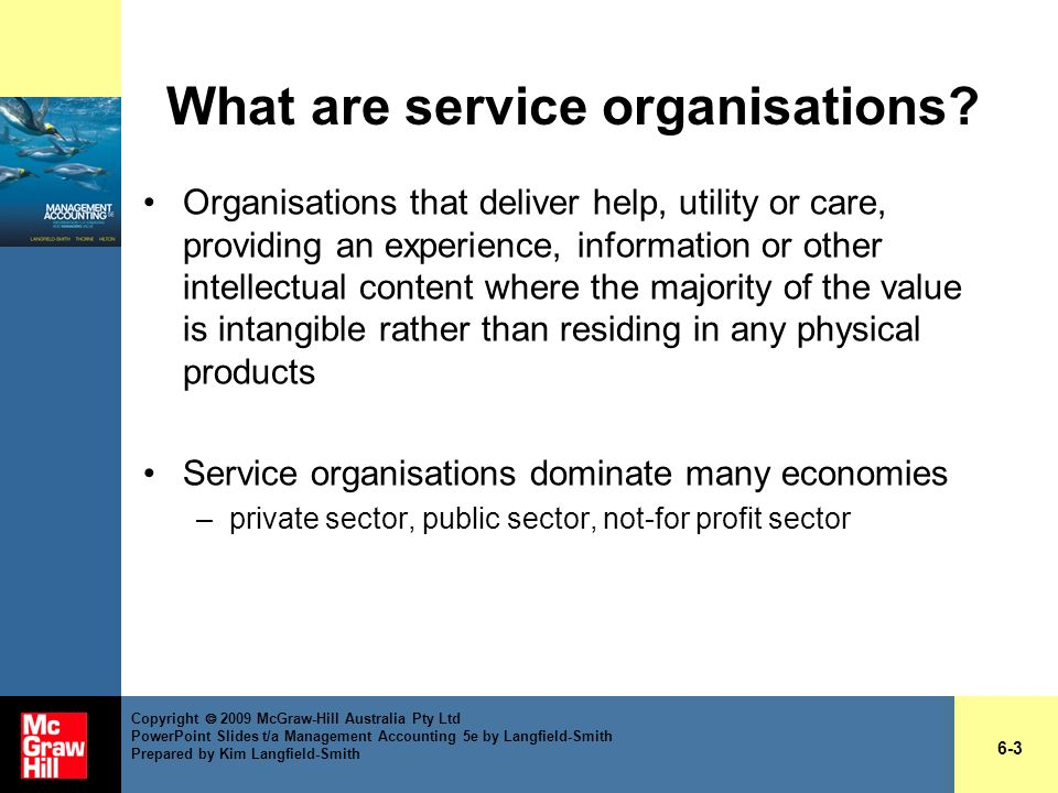 What are service organisations