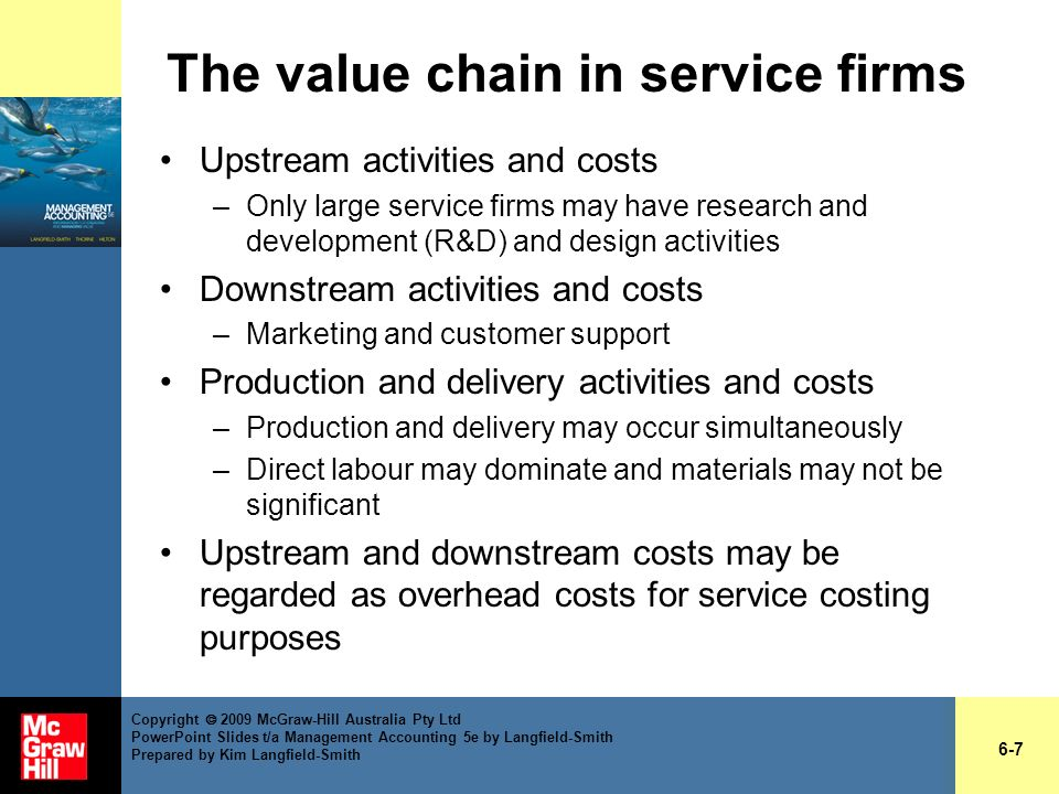 The value chain in service firms