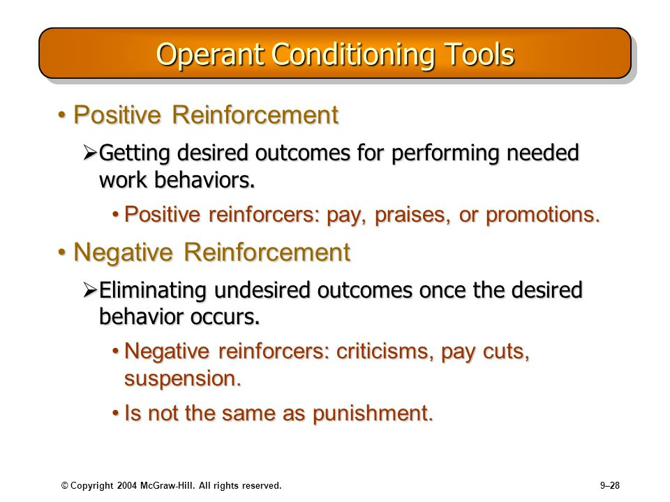 Operant Conditioning Tools