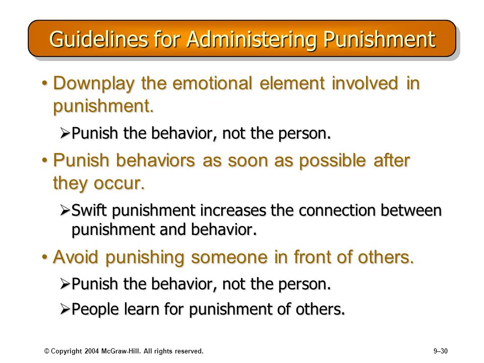 Guidelines for Administering Punishment