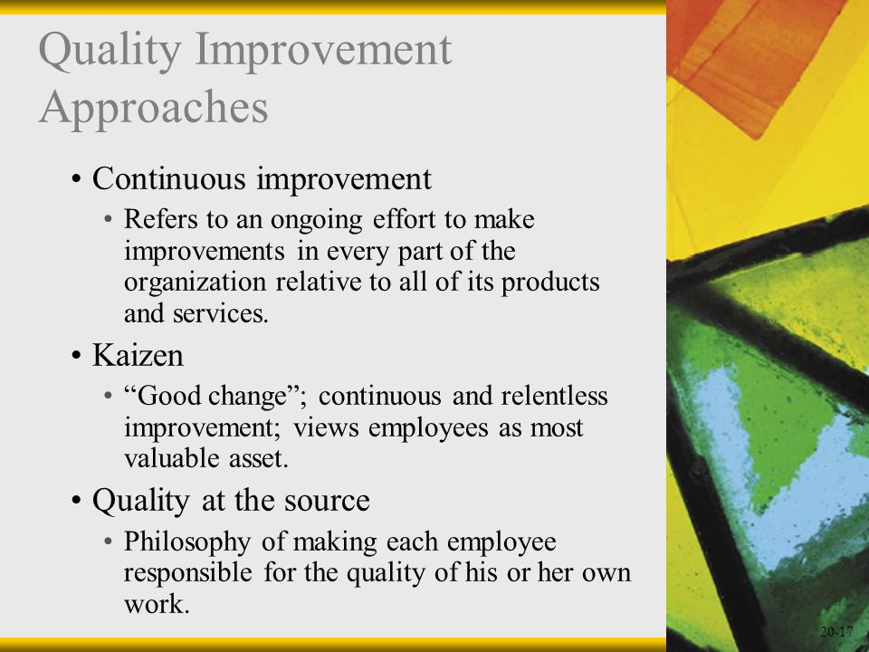 Quality Improvement Approaches