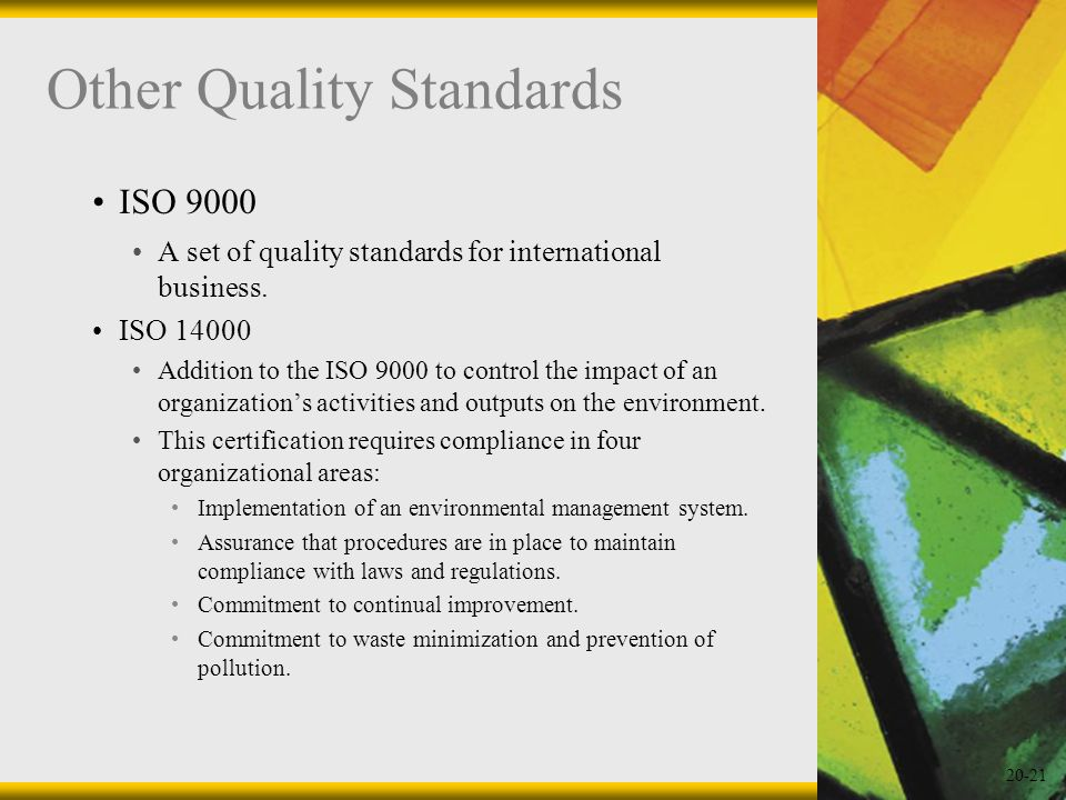 Other Quality Standards