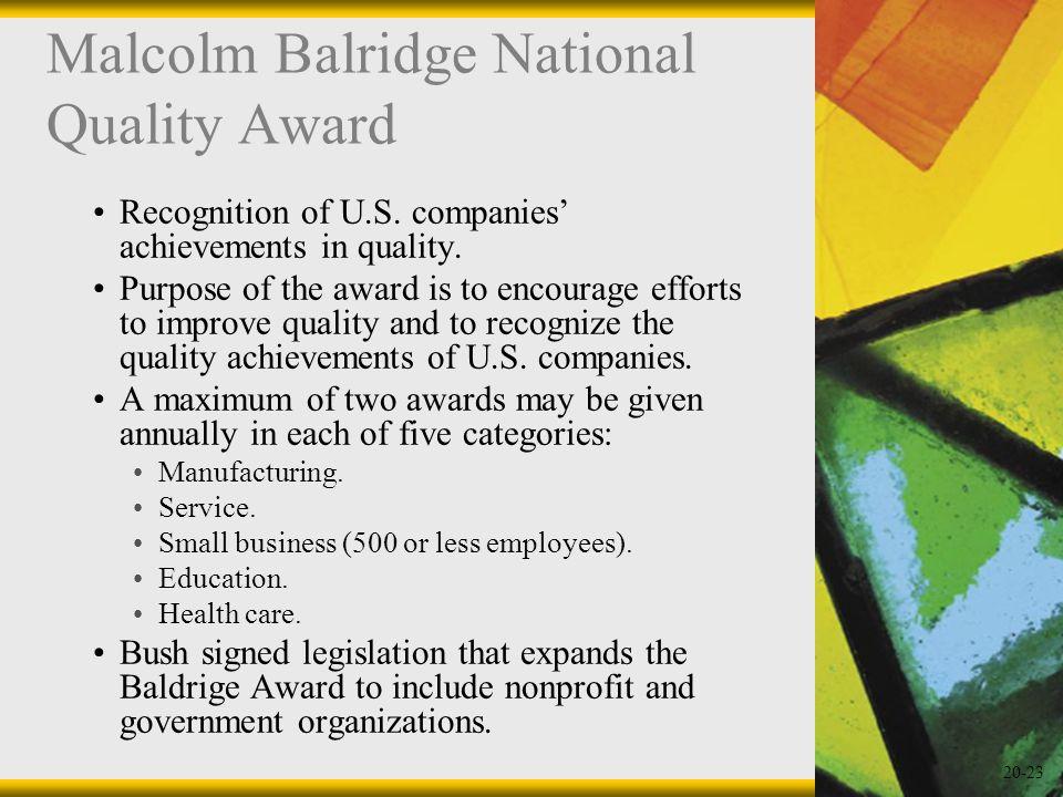 Malcolm Balridge National Quality Award