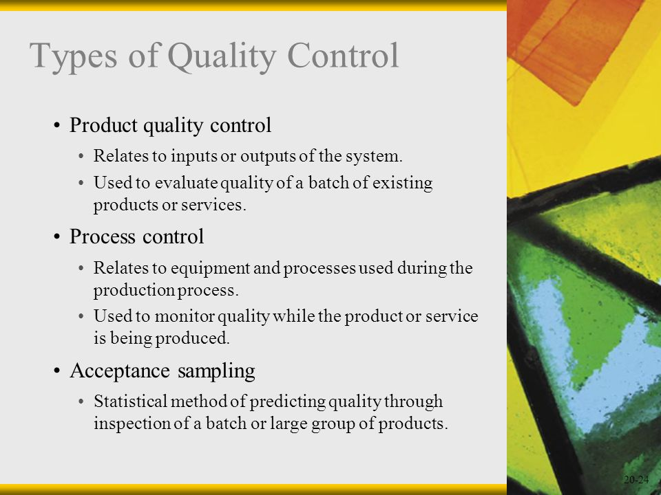Types of Quality Control