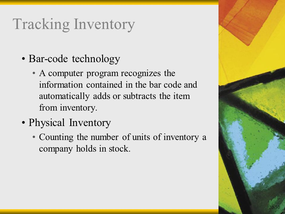 Tracking Inventory Bar-code technology Physical Inventory