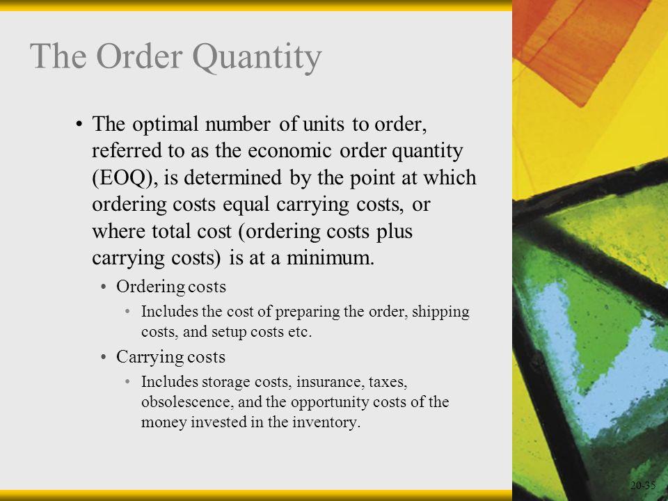 The Order Quantity