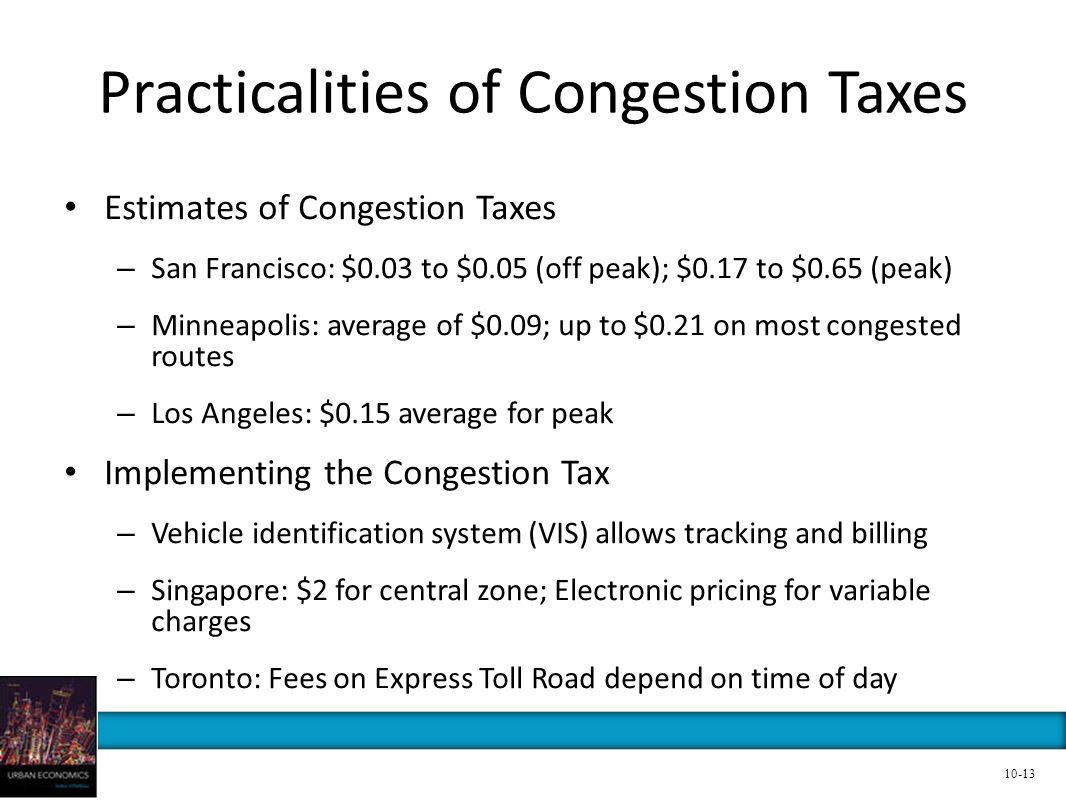 Practicalities of Congestion Taxes