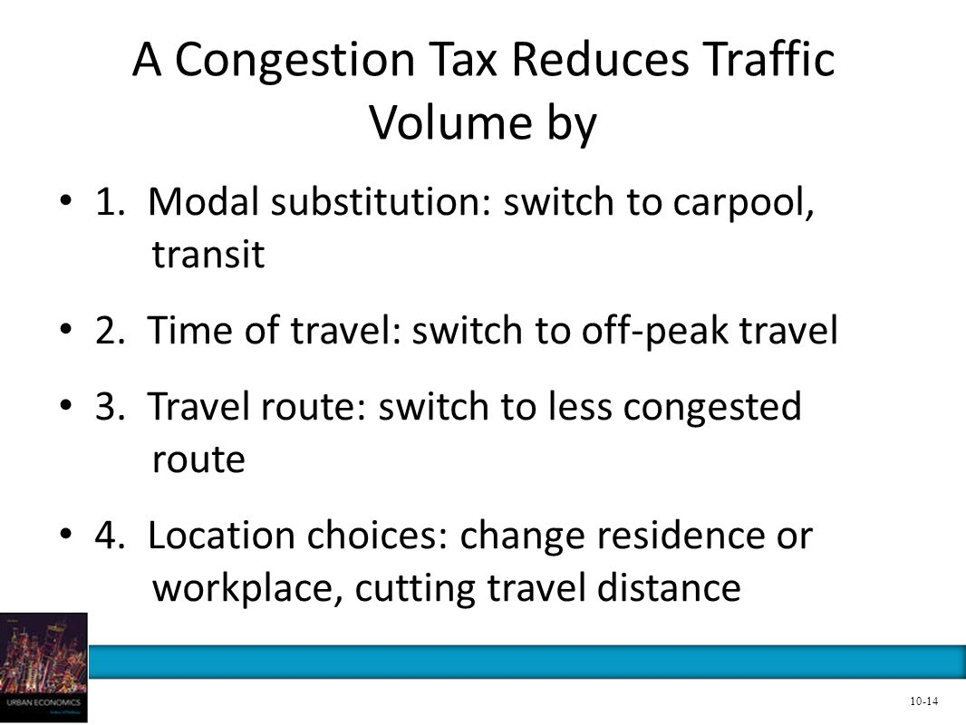 A Congestion Tax Reduces Traffic Volume by