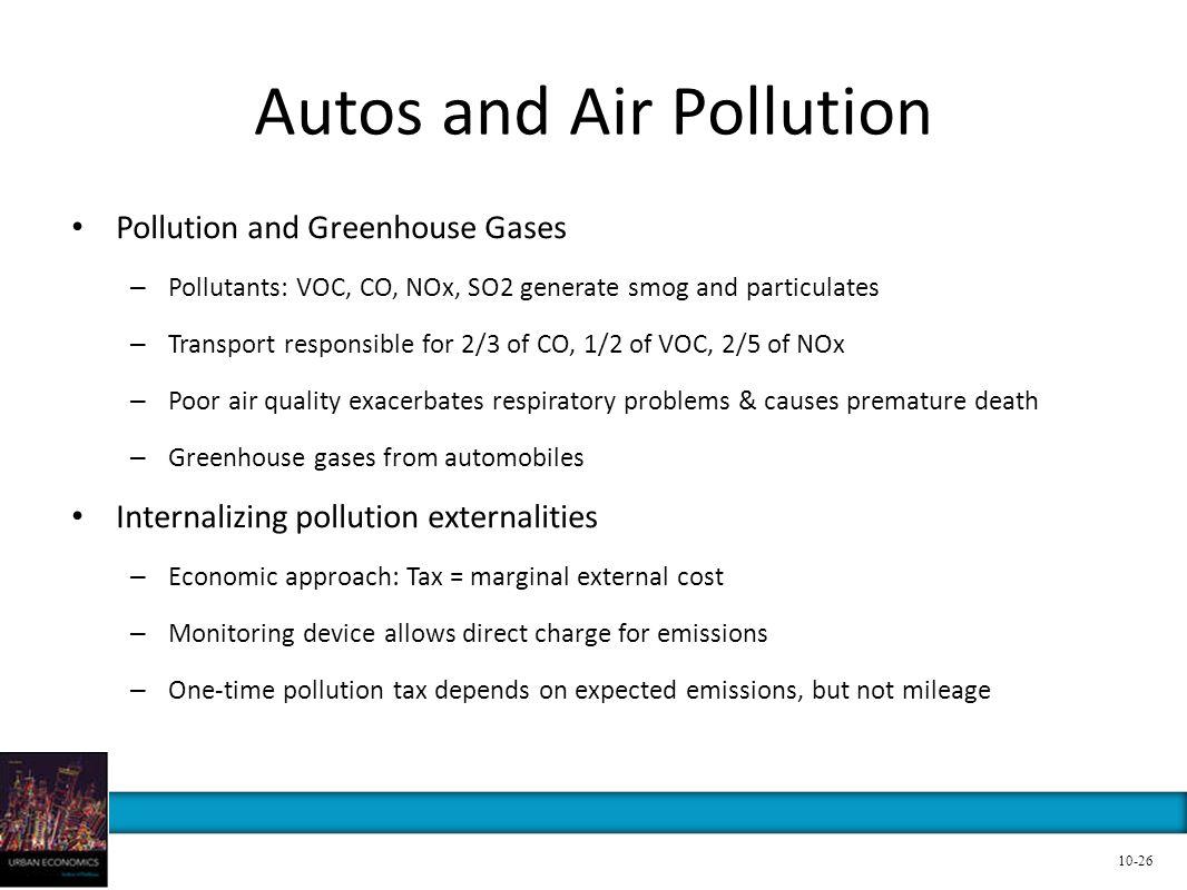 Autos and Air Pollution