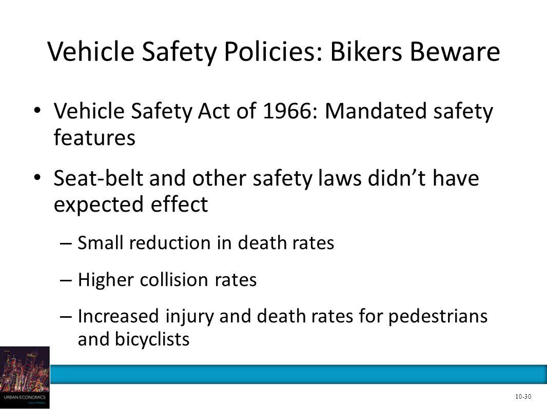 Vehicle Safety Policies: Bikers Beware