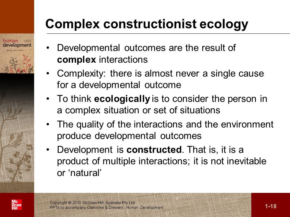 Complex constructionist ecology
