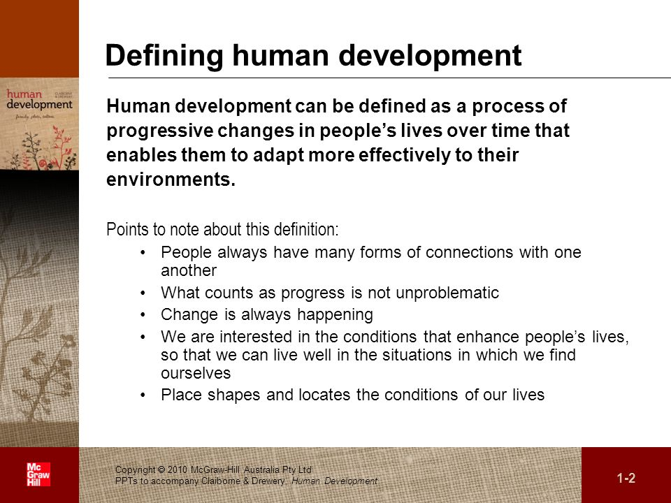 Defining human development