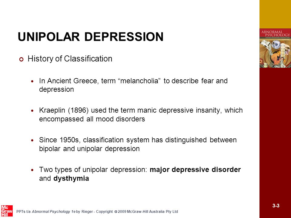 describe and evaluate two treatments of unipolar depression essay