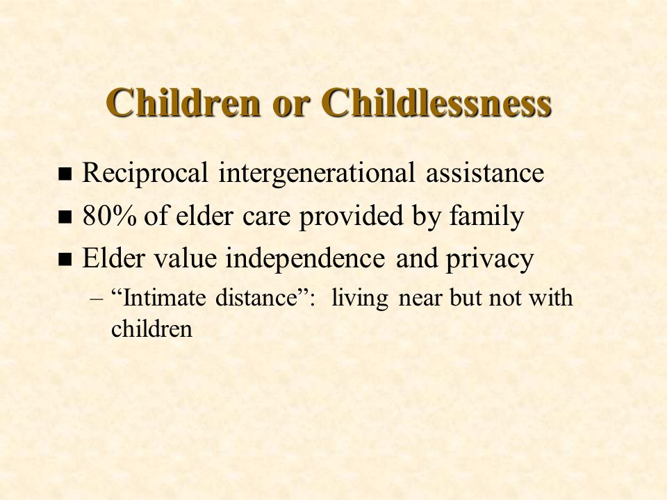 Children or Childlessness
