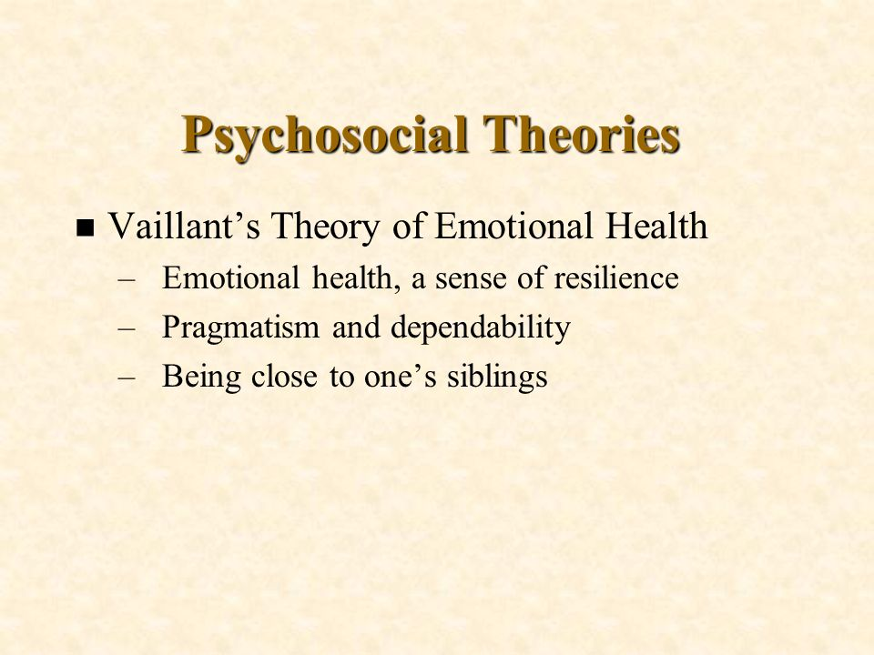 Psychosocial Theories