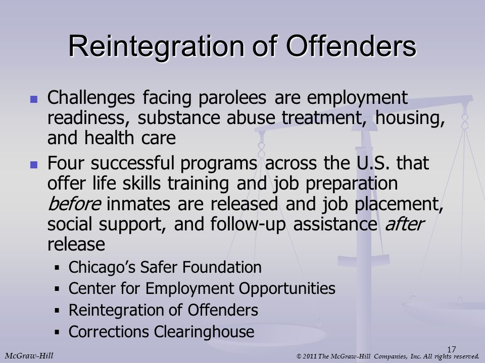 Reintegration of Offenders