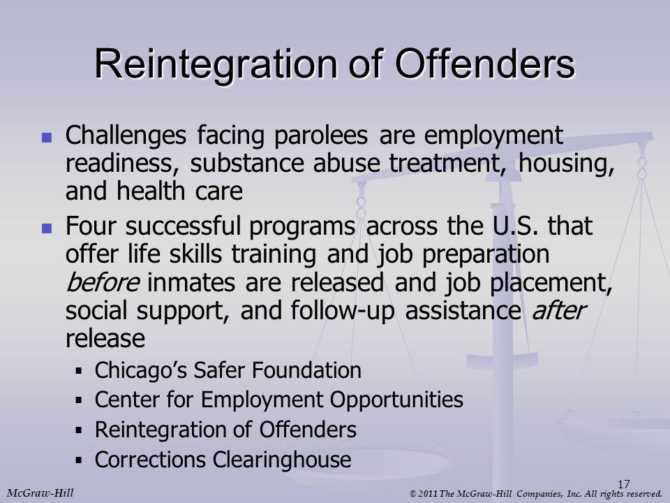 Reintegration of Offenders