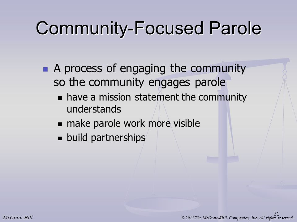 Community-Focused Parole
