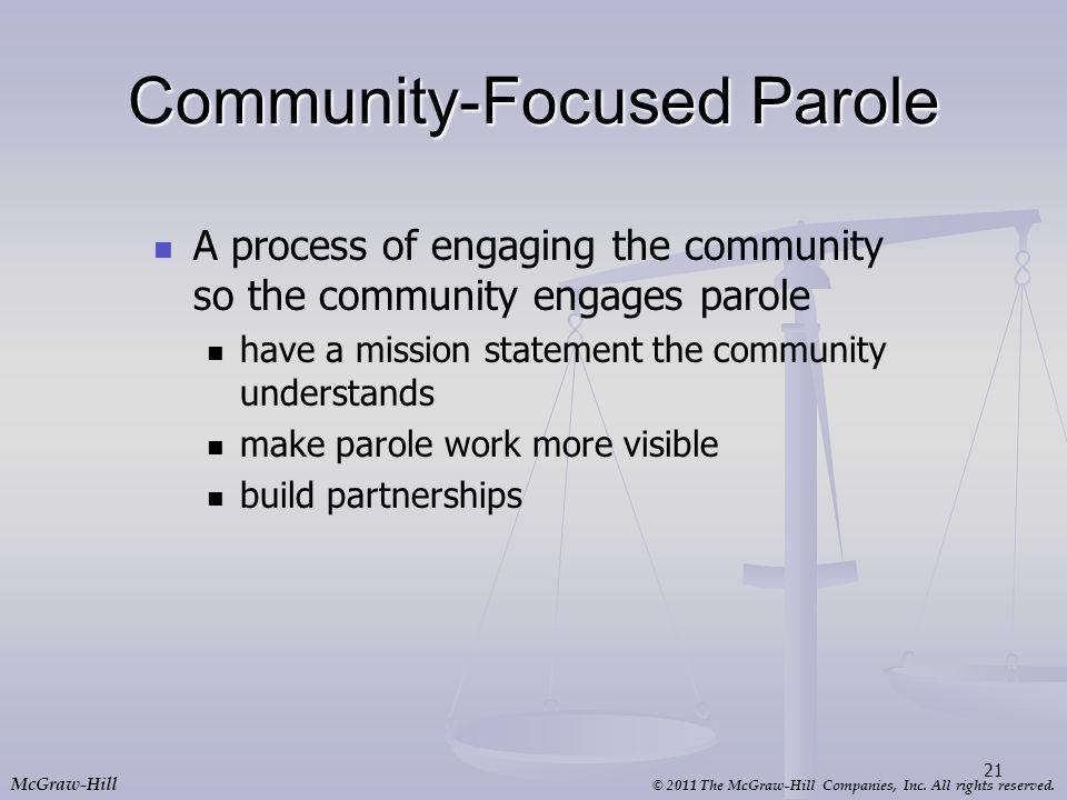 Community-Focused Parole