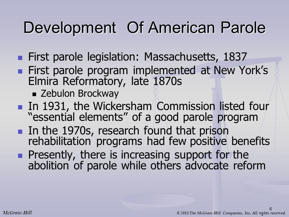 Development Of American Parole