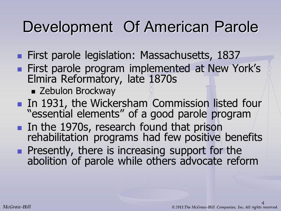 Development Of American Parole