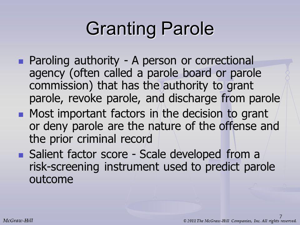 Granting Parole