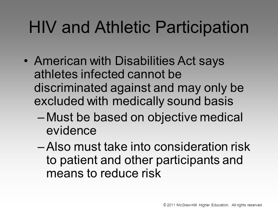 HIV and Athletic Participation