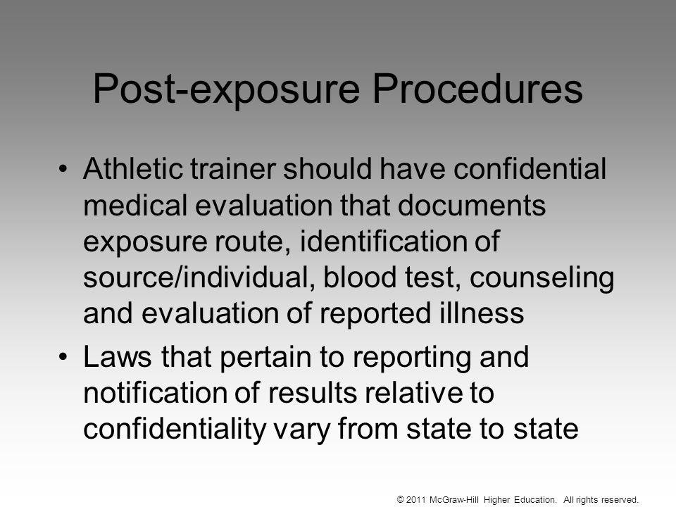 Post-exposure Procedures