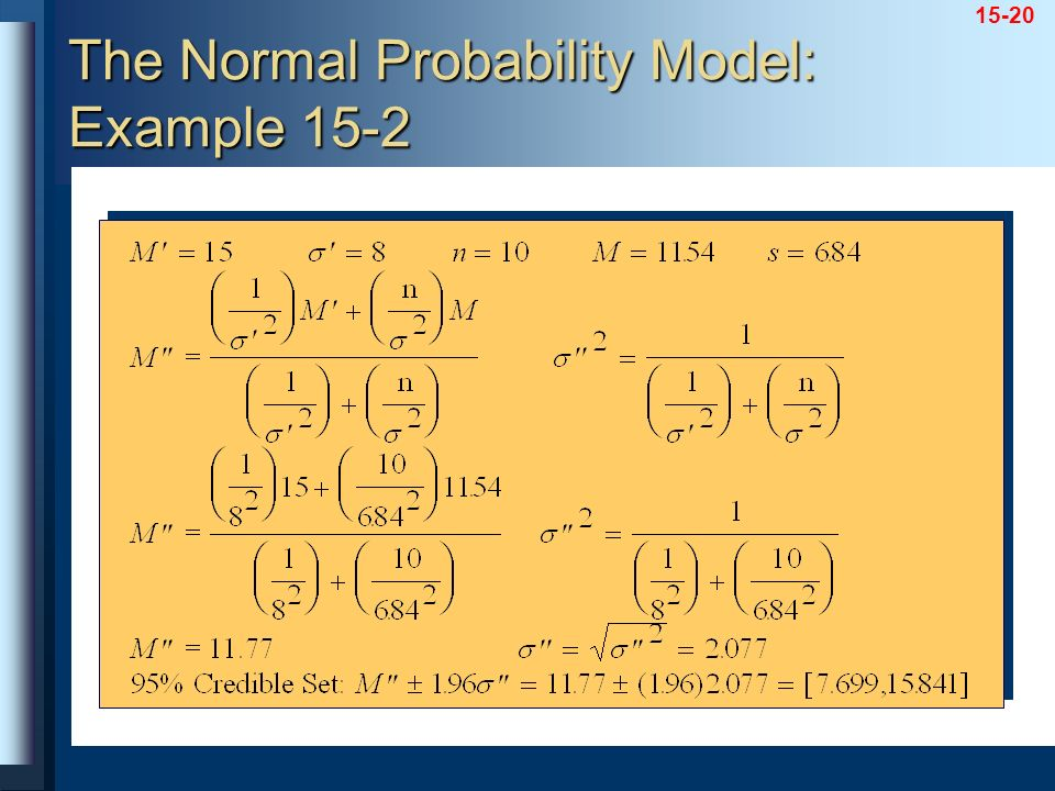 The Normal Probability Model: Example 15-2