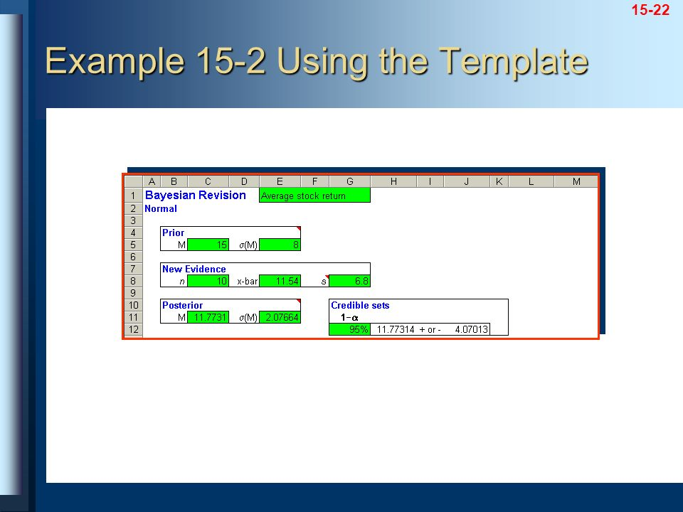 Example 15-2 Using the Template