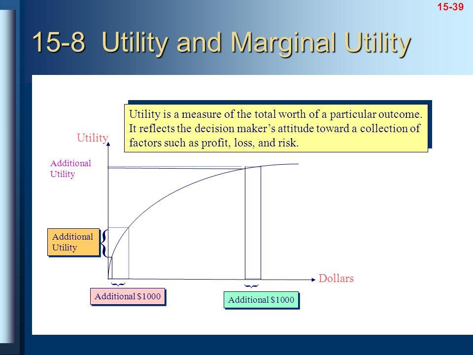 15-8 Utility and Marginal Utility