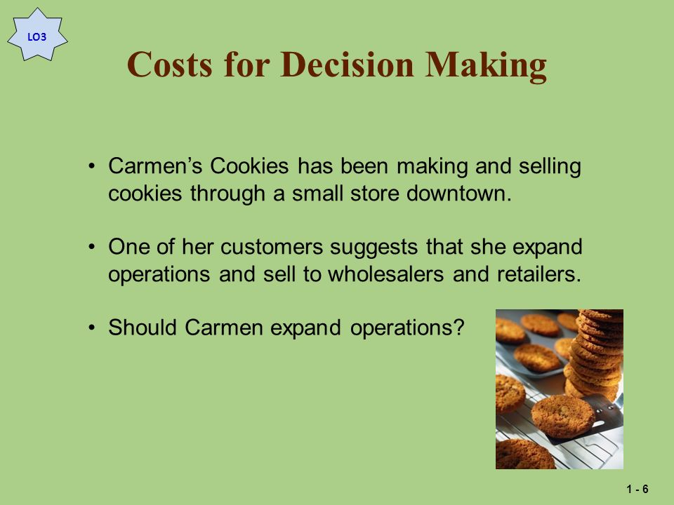 Costs for Decision Making