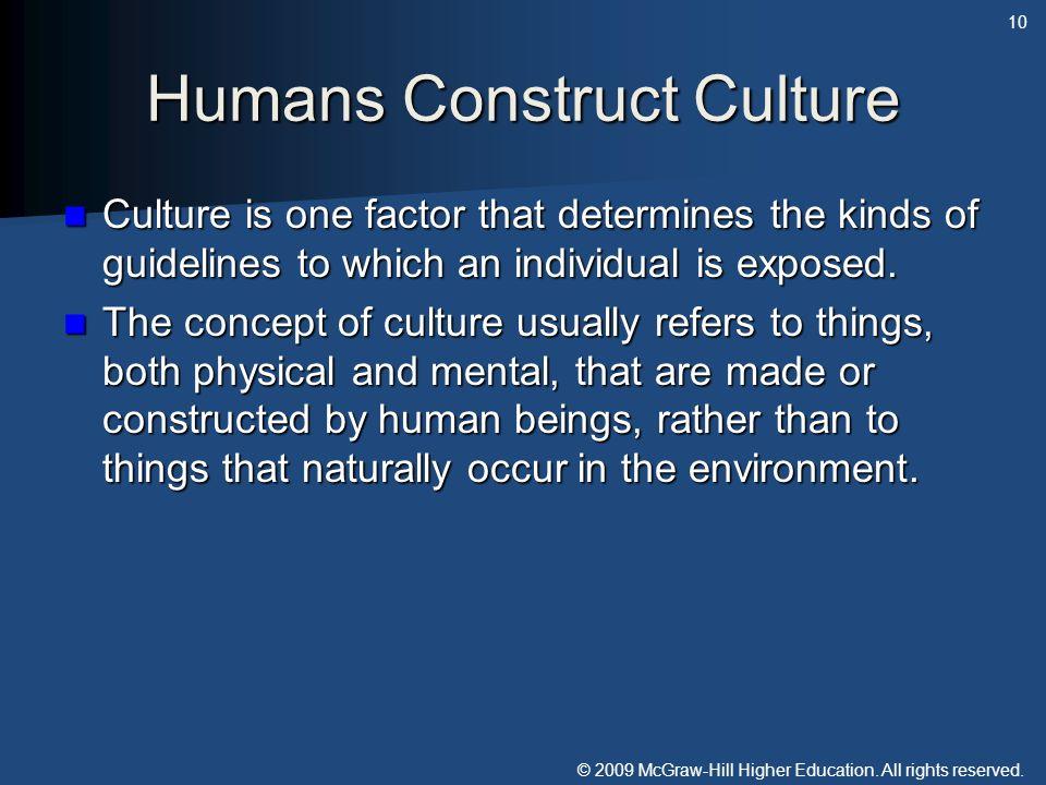 Humans Construct Culture