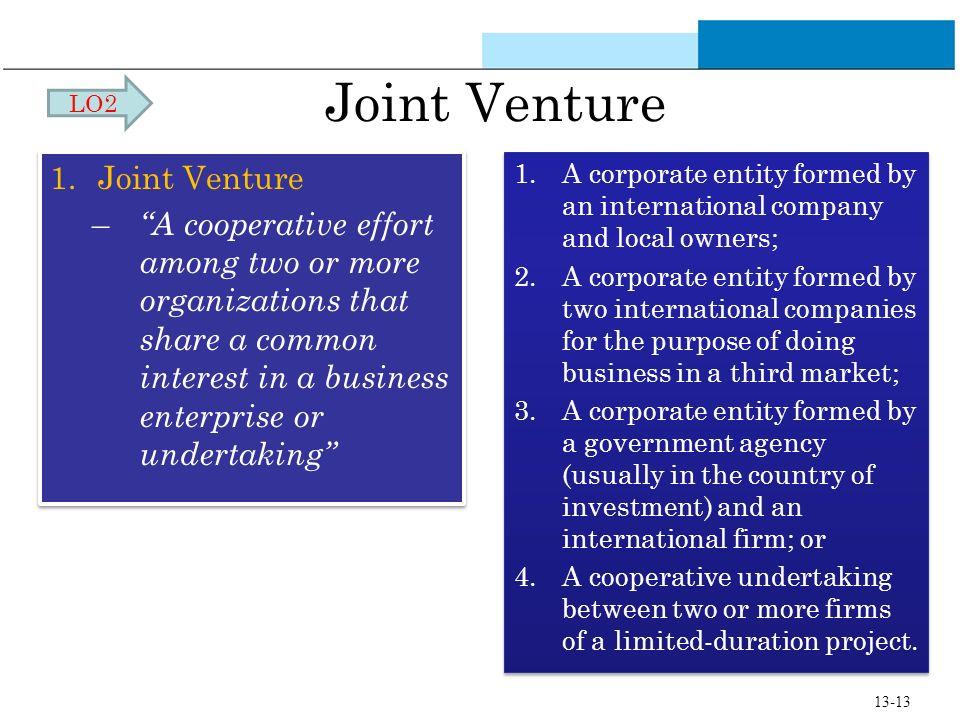 Joint Venture Joint Venture