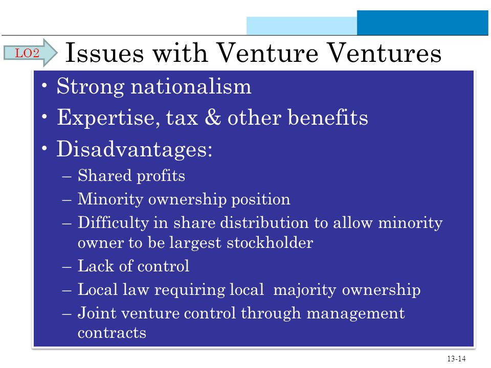 Issues with Venture Ventures