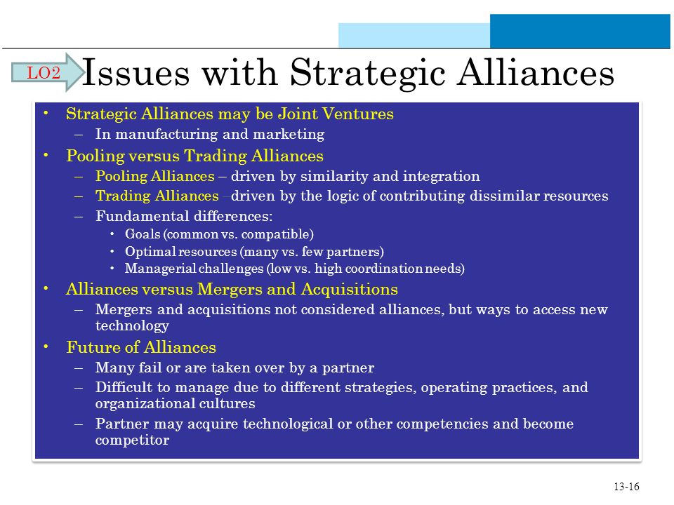 Issues with Strategic Alliances