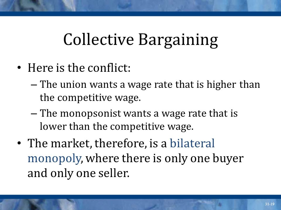 labor markets and collective bargaining essay Collective bargaining collective bargaining is always mutual acceptance by labor and management of a collective bargaining agreement or contract this.