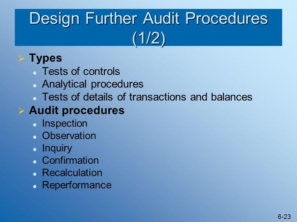 Design Further Audit Procedures (1/2)