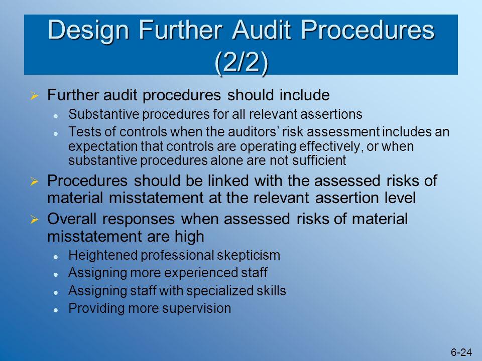 Design Further Audit Procedures (2/2)