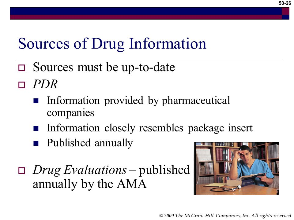 Sources of Drug Information