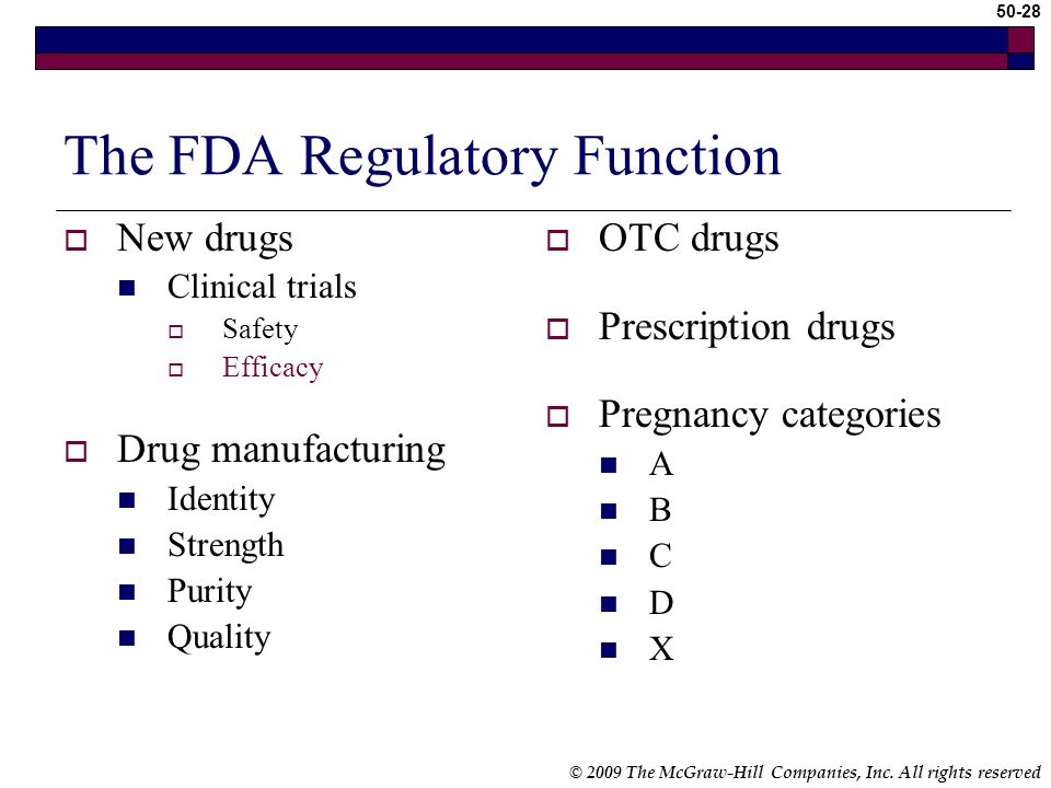 The FDA Regulatory Function