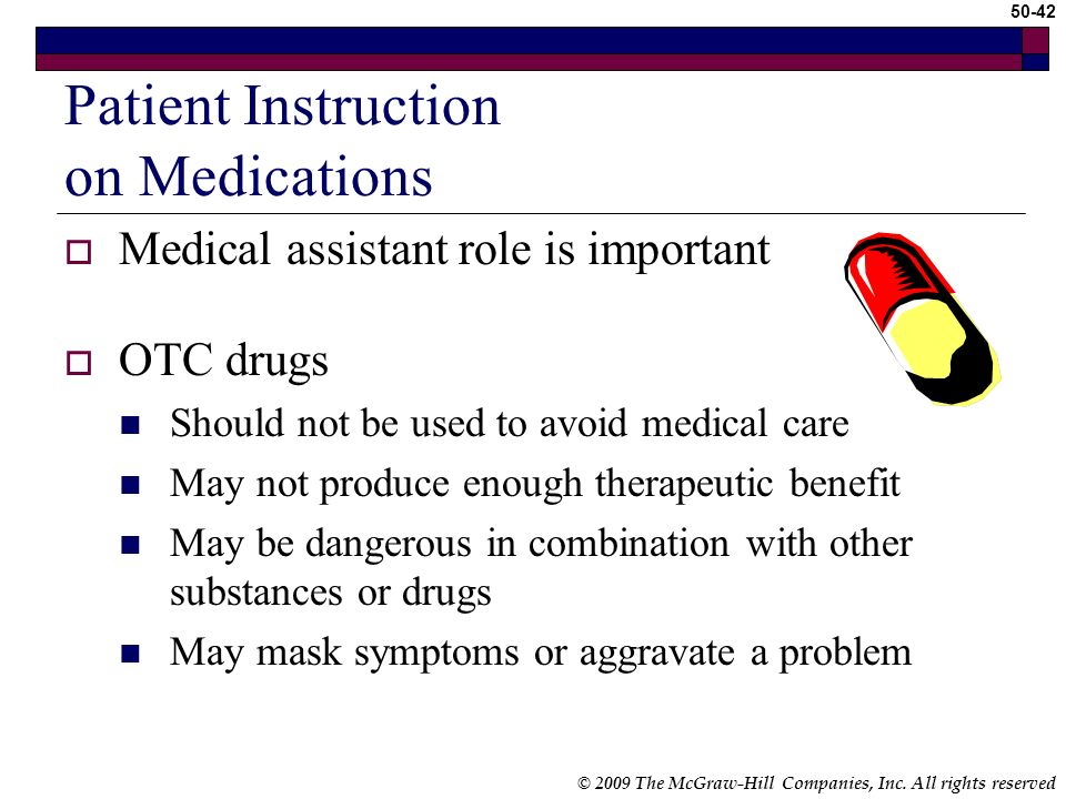 Patient Instruction on Medications