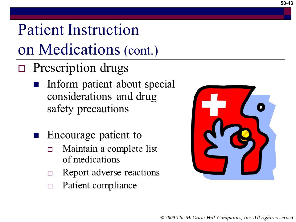 Patient Instruction on Medications (cont.)