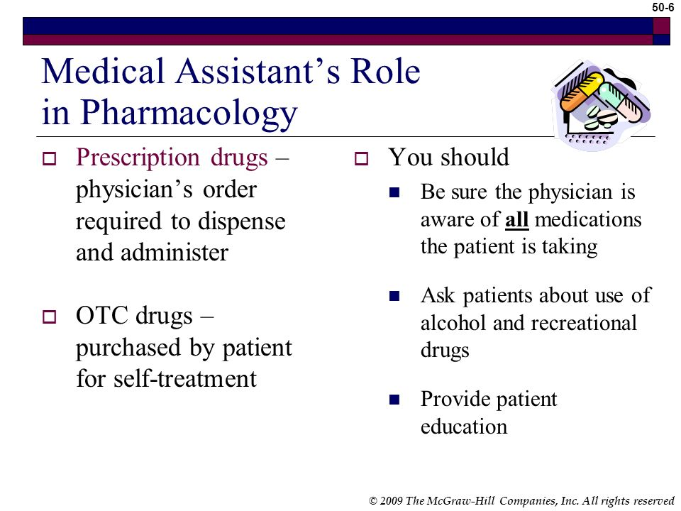 Medical Assistant's Role in Pharmacology